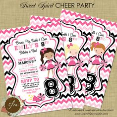 84 Top Cheerleading Party Images Cheer Party Party Invitations
