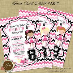 free printable cheerleading birthday party invitations Cogimbous
