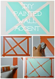 DIY painted wall accent using #FrogTape textured surfaces via @kbunn4