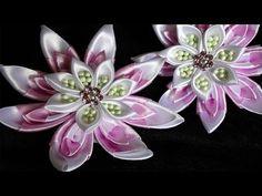 Школьные резиночки на каждый день/Канзаши Цветы/kanzashi flowers - YouTube
