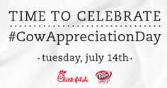 Free Chick-fil-A meal or entree on July 14 via heyitsfree.net