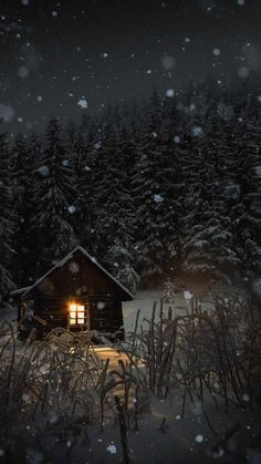 Winter Snow House iPhone Wallpaper - iPhone Wallpapers