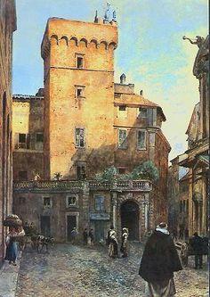 Ettore Roesler Franz e la Roma perduta Torre Frangipane