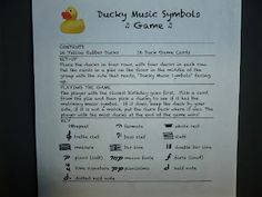 Ducky Music Symbols Game | Music Class Ideas