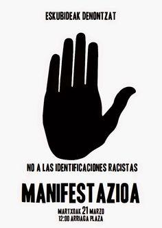 Ecuador Etxea (oficial): Manifestación: Día contra el Racismo y la Xenofobia