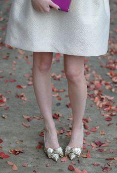 sparkle bow shoes