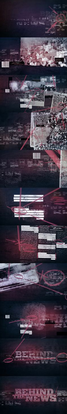 AlJazeera Behind the News Opening Title by Angelsign Studio , via Behance