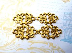 Victorian style brass stamping connector