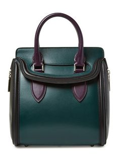 Heroine Tri Color Leather Mini Satchel Alexander McQueen