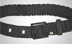 This 3D printed belt is inspired by the composition of a bike chain. Made of Nylon fiber, the belt is 3D printed in one piece on an SLS (Selective Laser Sintering) machine, using Cubify Cloud Printing. $159