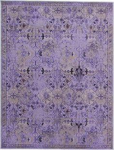 7' 10 x 10' 10 Purple Tabriz Over-Dyed Area Rugs