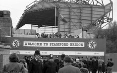 Fans assemble at Stamford Bridge for the Second Division match with Wrexham in August Note the admission! Chelsea Players, Chelsea Fans, Chelsea Football, Stamford Bridge, Football Stadiums, London Photos, Sunderland, Tottenham Hotspur, Newcastle