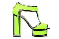 Sandal with plateau fluorescent Kat Maconie