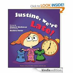 Justine, we're late! (Conflict resolution and problem solving for little ones) by Shimrit Nothman, Bushra Owais (children's book). This could have benefited from some editing. It had potential, and it gave some good tips on conflict resolution, but it needed some structural work.
