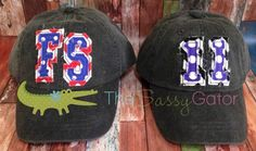 Monogrammed Baseball Hat Cap Preppy Number by sassygatormonograms