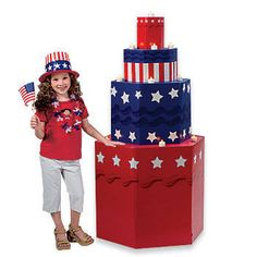 Our USA Cake Prop Will Create A Patriotic Focal Point In Your Event Room Each