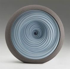 "Matthew Chambers ""I make sculpture that is born from the potters wheel. Many sections are thrown and built to create a constructed beauty, rhythm, and symmetry in abstract form."""