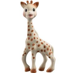 Vulli Sophie the Giraffe features a squeaker that keep your little one amused, stimulating hearing and ultimately helping baby to understand the link between cause and effect. Babies will also love to chew on this adorable toy, which also soothes sore gums when teething. www.rightstart.com $24.99