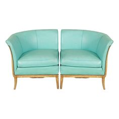 TEAL MID CENTURY FAN ARM SECTIONAL SETTEE | CIRCA 1940 - $2875.