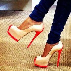 it's striking red heels  - I Love Fashion