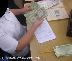 classroom economy in action!  kids keep track of their own money using math and life skills