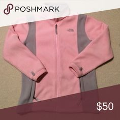North Face jacket Light pink jacket with grey Jackets & Coats