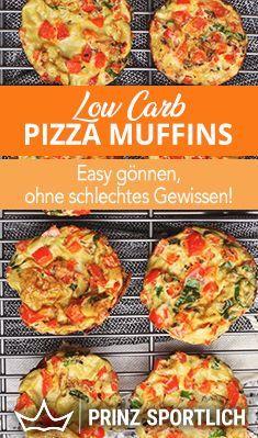 Bock auf Pizza & Muffins?! Beides in einem und fitnessgerecht & mega lecker: Low Carb Pizza Muffins. Das Rezept findet ihr auf meiner Website!