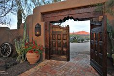 Love these gates into the courtyard.