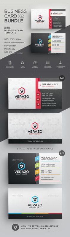 #Business #Card #Bundle 38 - Corporate Business Cards Download here: https://graphicriver.net/item/business-card-bundle-38/20341334?ref=alena994