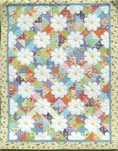 Beautiful daisy flower quilt
