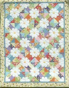 Beautiful daisy flower quilt