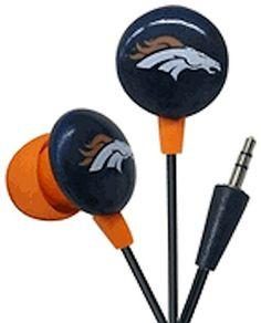 NFL Officially Licensed Denver Broncos Ihip Earbuds