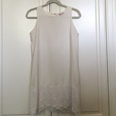 Cute white dress! Love this dress! Worn once. In great condition. Too small for me. Emmelee Dresses