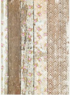 Rice Paper for Decoupage Decopatch Scrapbook Craft Sheet Vintage Wallpaper Roses