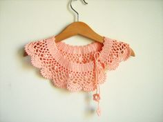Collar Necklace Handmade crochet Peter Pan Collar by NMNHANDMADE, $19