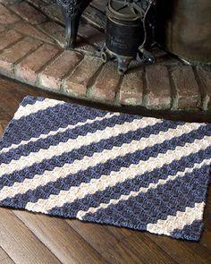 Best Free Crochet » Free Diagonal Rug Crochet Pattern from RedHeart.com