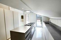#fenixNTM #kitchen, white + grey. #plywood structure