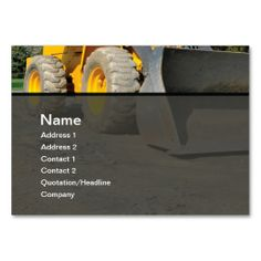 construction equipment business card template. Make your own business card with this great design. All you need is to add your info to this template. Click the image to try it out!