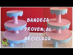 Suporte Feito com Papelão / Suporte Para Doces Estilo Provençal / Reciclarte - YouTube
