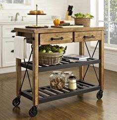 The Rachel Serving Cart Has Become A Little Coffeetea Bar For Us Interesting Rolling Kitchen Chairs 2018