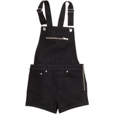 H&M Bib shorts ($23) ❤ liked on Polyvore