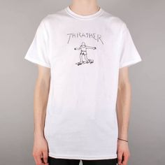 c445552e930c Thrasher Gonz By Mark Gonzales T-Shirt - White Skate T Shirts, Skate Store