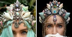 Mermaid Crowns With Real Seashells Are Taking Internet By Storm | Bored Panda