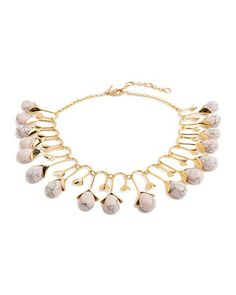 Blooming Bud Statement Necklace by Lele Sadoughi at Neiman Marcus.