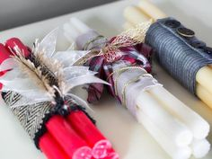 Candlestick Bundles - 8 Easy Handmade Holiday Gifts for Hosts on HGTV