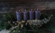 Adventskranz grau Marceline, Pillar Candles, Clouds, Rose, Glass, Queen, Grey Candles, Faux Christmas Tree, Picture On Wood