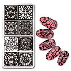 Cheap art stamping plate, Buy Quality nail art stamping plates directly from China stamping template Suppliers: 1 PC Rectangle Nail Art Stamping Plate Lace Flower Design Stamp Image Plate Nail Stamping Template Nail Tools Nail Art Stamping Plates, Stamping Tools, Nail Plate, G Nails, Lace Nails, Flower Design Images, Flower Designs, Jolie Nail Art, Nail