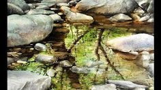 Stones,rocks and reflections. Watercolor painting by Rukiye Garip - YouTube