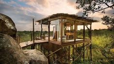 South African private game reserve with four luxury safari lodges located within the Sabi Sand Game Reserve and Kruger National Park.