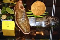 Fish leather man shoes  -Gold medal -2010- International Shoes Competicion- Wiesbaden, Germany. Handmade shoes by Attila (Budapest-Hungary) - (tel.:+3620-397-6611) www.attilacipo.hu https://www.youtube.com/watch?v=l3VOYJIthfE&feature=em-upload_owner-smbtn